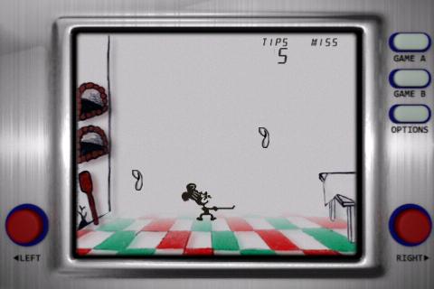 Más pizzas volando en el juego / app Pizzas para el iPhone